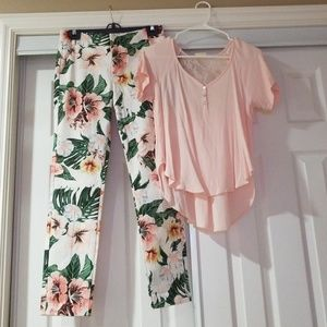 Bnwt Zara Straight leg ankle pants and Top